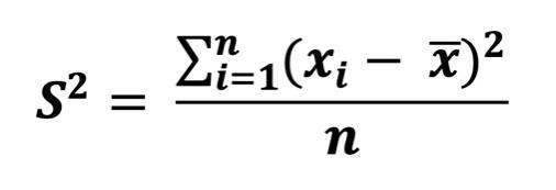 varianz-formel